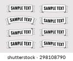 set of retro ribbon banners....   Shutterstock .eps vector #298108790