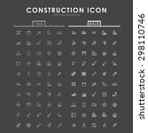 construction bold and thin... | Shutterstock .eps vector #298110746