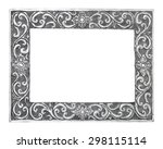 old decorative silver frame  ... | Shutterstock . vector #298115114