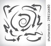 arrow icons set  vector arrows   Shutterstock .eps vector #298116680