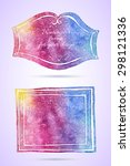 vintage artistic frames.... | Shutterstock .eps vector #298121336