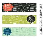 back to school banners with... | Shutterstock .eps vector #298125428