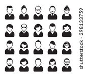 set of people icons. vector... | Shutterstock .eps vector #298133759