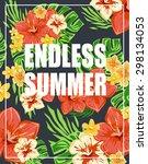 summer tropical poster...   Shutterstock .eps vector #298134053