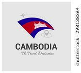cambodia the travel destination ... | Shutterstock .eps vector #298138364
