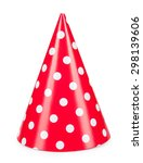 Red Party Hat Isolated On A...