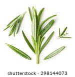 Rosemary Twig On A White...