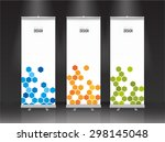 roll up banner stand design.... | Shutterstock .eps vector #298145048