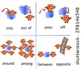 preposition grammar with owl...   Shutterstock .eps vector #298146548