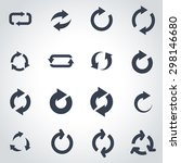vector black refresh icon set.  | Shutterstock .eps vector #298146680