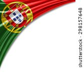 portugal  flag of silk with... | Shutterstock . vector #298157648