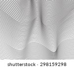black and white mobious wave... | Shutterstock .eps vector #298159298