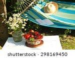 fresh fruit in basket.... | Shutterstock . vector #298169450