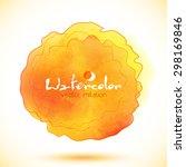 orange watercolor paint stain ... | Shutterstock .eps vector #298169846