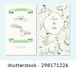 wedding invitation  thank you... | Shutterstock .eps vector #298171226