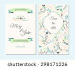 wedding invitation  thank you... | Shutterstock .eps vector #298171226