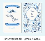 wedding invitation  thank you... | Shutterstock .eps vector #298171268