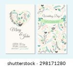 wedding invitation  thank you... | Shutterstock .eps vector #298171280