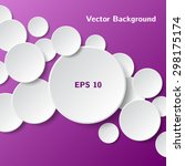abstract white paper circles on ... | Shutterstock .eps vector #298175174