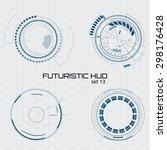 set of sci fi futuristic user... | Shutterstock .eps vector #298176428