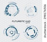 set of sci fi futuristic user... | Shutterstock .eps vector #298176506
