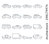 outline car collection icon | Shutterstock . vector #298179974