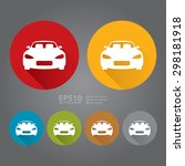 vector   circle car  car... | Shutterstock .eps vector #298181918