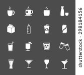 drink icons. beverages icons....   Shutterstock .eps vector #298184156