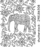 Hand Drawn Elephant Coloring...