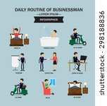 businessman in daily routine  ... | Shutterstock .eps vector #298188836