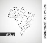 technology image of brazil. the ... | Shutterstock .eps vector #298193228
