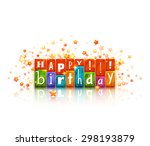 color blocks with letters.... | Shutterstock .eps vector #298193879