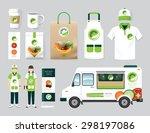 vector organic health shop... | Shutterstock .eps vector #298197086