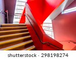 Staircase Painted In Red....