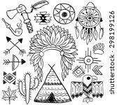 hand drawn doodle vector... | Shutterstock .eps vector #298199126
