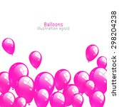 Background With Pink Balloons ...