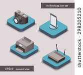 isometric icons  3d pictograms...
