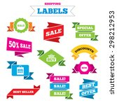 sale shopping labels. sale... | Shutterstock .eps vector #298212953