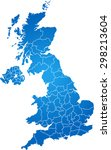 map of united kingdom | Shutterstock .eps vector #298213604