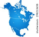 map of north america | Shutterstock .eps vector #298213658