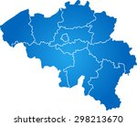 map of belgium | Shutterstock .eps vector #298213670