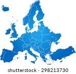 map of europe | Shutterstock .eps vector #298213730