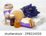 spa concept. lavender handmade... | Shutterstock . vector #298214333