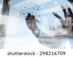 double exposure of businessman... | Shutterstock . vector #298216709