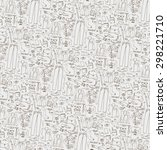 men fashion pattern background .... | Shutterstock .eps vector #298221710