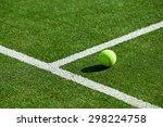 tennis ball on tennis grass... | Shutterstock . vector #298224758