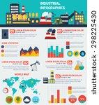 modern industrial flat... | Shutterstock .eps vector #298225430