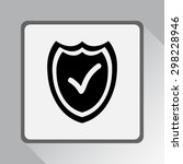 shield sign icons  vector... | Shutterstock .eps vector #298228946