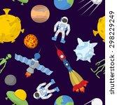 space cartoon seamless pattern. ...   Shutterstock .eps vector #298229249
