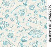 handmade items seamless pattern | Shutterstock .eps vector #298231790